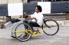 Lastenrad als Einkommensquelle für Behinderte in Indien  - http://www.ebike-news.de/lastenrad-fur/3882