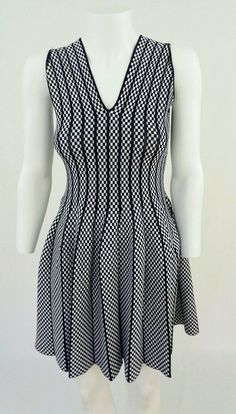 d376685adc9 Alaia Inspired black and white Full Flare skater dress size M  Unbranded  Alaia Dress