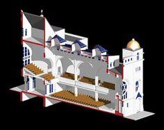 Vienna, Austria.  Pazmanitengasse Synagogue (Leopoldstadt Synagogue).  Ignaz Reiser, architect ca. 1910. Reconstruction/Photo: Bob Martens