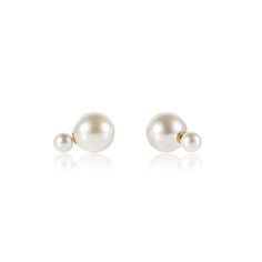 DOUBLE PEARL STUDS #TDH #WHITE LABEL #PEARLS #STUDS #EARRINGS