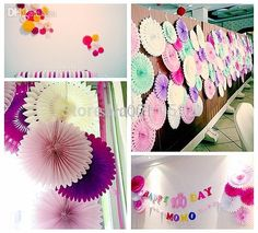 Honeycomb Seidenpapier Fan Pinwheels Dekorative Blumen Papier Handwerk Party Hochzeit