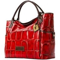 Be the Lady in Red. This red Dooney and Burke bag will go nicely with some blazing red heels. Are you 'Red'dy?