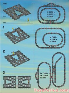 Table de train Lego - New Ideas Lego Train Station, Lego Train Tracks, Lego City Train, Hama Beads Minecraft, Perler Beads, Lego Mecha, Table Lego, Lego Track, Modele Lego