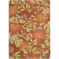 Kiya Rug in Copper (floral Pattern, Rug Sample) | Handmade Area Rugs from Company C