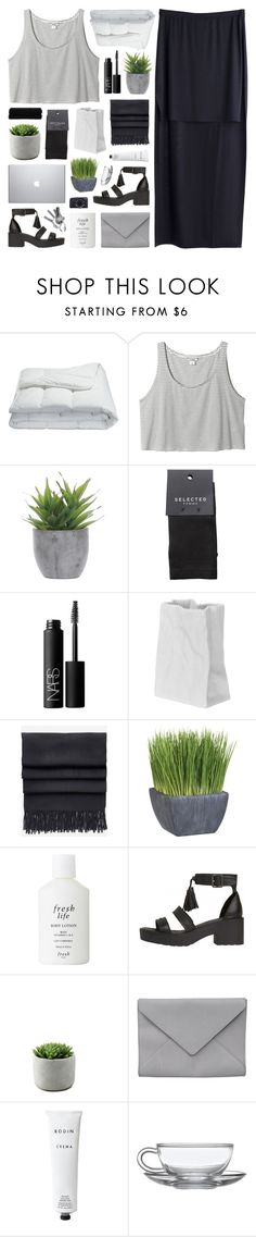 """I CAN SEE HOW FAR I'VE COME"" by feels-like-snow-in-september ❤ liked on Polyvore featuring Frette, MTWTFSS Weekday, Monki, Lux-Art Silks, SELECTED, NARS Cosmetics, Rosenthal, Acne Studios, Crate and Barrel and Fresh"