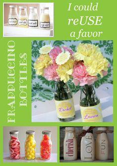 Pamela Smerker Designs: Frappuccino Bottle Favors {DIY}