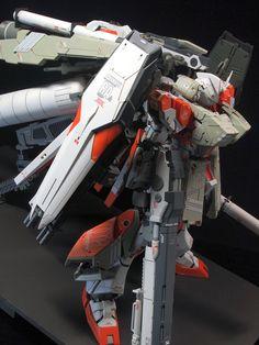 MODELER: sixx6 MODEL TITLE: nu Gundam HWS - 2 Peacock MODIFICATION TYPE: kit bash, custom color scheme, scratch built parts, custom deta...