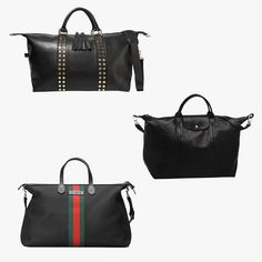 c2e655cb2974 Eddie Harrop The Voyager studded textured-leather weekend bag