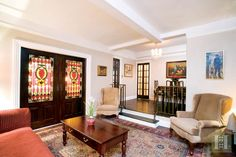 Elegant Prewar Art Deco ... A premier, oversized one bedroom home in excellent condition in the Murray Hill Section of Manhattan. This special 1930's apartment has lots of character including period moldings, 8'9 beamed ceilings, beautiful oak hardwood floors with inlay borders, large dining gallery, step-down oversized living room with original art deco railings. Learn more at www.halstead.com/9234895