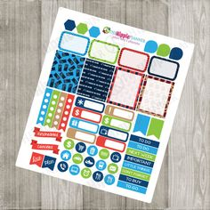 Doctor Who Inspired Weekly Kit | Themed Planner Kit | Erin Condren Life Planner, PPP, Filofax, Scrapbooking, Calendars