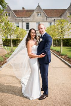 The bride and groom photographed . in front of Jacobean Manor Froyle Park by Hampshire wedding photographer Juliet Mckee. Wedding Venues, Wedding Photos, Jacobean, Park Weddings, Hampshire, Spring Wedding, Flirting, Groom, Bride