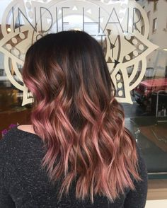 natural rose gold hair color on woman