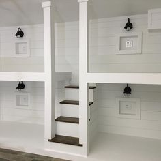 Getting ready for the weekend everyone needs a bunk room #bunkbeds #livingroom #beforeandafter #bedroom #designer #shiplap #lighting #painted #stacyjacobihome