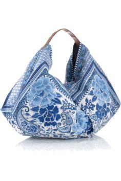 Paisley Slouchy Banana Bag Blue Accessorize no pattern Blue Handbags, Purses And Handbags, Design Bleu, Origami Bag, Slouch Bags, Ethnic Bag, Boho Bags, Cute Purses, Fabric Bags