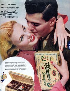 Vintage Magazine Ad - 1940's Vintage Whitman's Chocolates Ad