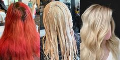 """Daniel Hewlette sent me this interesting WSJ article about trying to """"undo"""" crazy Corona hair dying experiments. Pink Hair, Blonde Hair, Nine Zero One Salon, Box Dye, Marketing Communications, Grow Out, Pale Skin, Bad Hair, Up Hairstyles"""