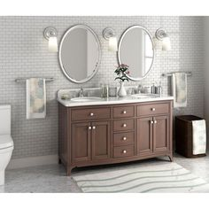 Furnish your master bathroom with the exquisite style of the Florence 60-inch…