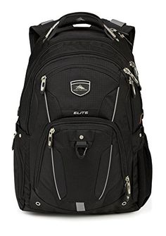 High Sierra Elite Backpack Black *** You can find out more details at the link of the image.