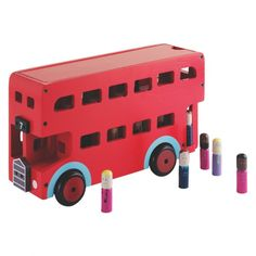 LONDON BUS Red London bus wooden toy