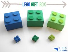 Lego gift boxes. These would look super cute under a Christmas tree!