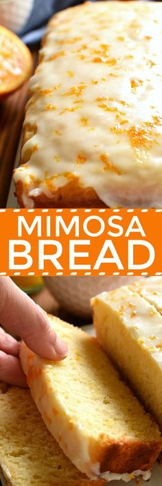 If you love mimosas, this Glazed Mimosa Bread is for you! A delicious quick bread that has all the flavors of your favorite breakfast cocktail, topped with a sweet orange champagne glaze. Perfect for (Favorite Recipes Brunch Food) Breakfast Bread Recipes, Quick Bread Recipes, Savory Breakfast, Brunch Recipes, Cooking Recipes, Breakfast Ideas, Sweet Breakfast, Mother's Day Breakfast, Breakfast Tailgate Food