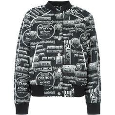 Kenzo Jacket (35.270 RUB) ❤ liked on Polyvore featuring outerwear, jackets, black, bomber style jacket, kenzo jacket, kenzo, bomber jacket and stand up collar jacket