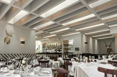 A Stylish White And Black Bar and Tea Restaurant by Productora, Mexico Tea Restaurant, Restaurant Design, Restaurant Interiors, Loft Interior Design, Interior Designing, Pub Design, Ceiling Treatments, Function Room, Floor Patterns
