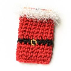 Santa Crochet Gift Card Holder