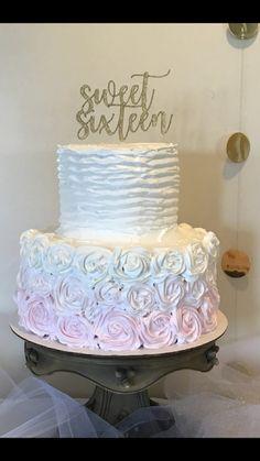 Sweet sixteen birthday cake pink