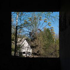 Pripyat view - Window view of the ferris wheel in Pripyat