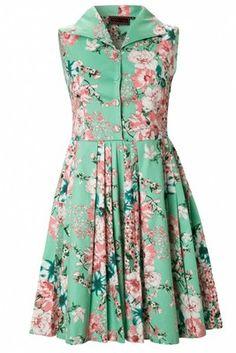 Vixen 50s Summer Bouquet Swing Dress