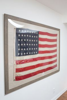 Patriotic Art for The Home - Framing the Flag - Sugar and Charm