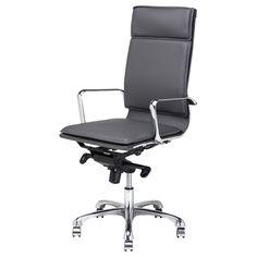 Linda High Back Office Chair, Dark Grey | Memoky.com