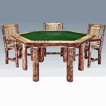 Our Amish Log Poker Table.