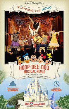 Walt Disney World Planning Pins: Hoop-Dee-Doo Musical Revue