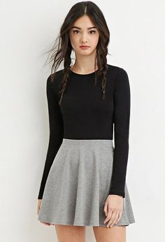 Modest spring skirt outfits ideas 01 cute outfits to find ши Mode Outfits, Grunge Outfits, Casual Outfits, Classic Outfits, Teen Fashion, Korean Fashion, Fashion Outfits, Skirt Fashion, Fashion Black