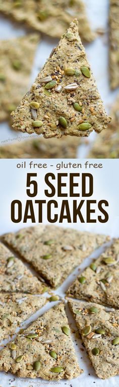 Five Seed Oatcakes Recipe - Palm Oil-free and Gluten-free via @nestandglow