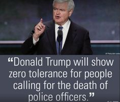 DEBRA GIFFORD (@lovemyyorkie14) | Twitter....... 'Trump will show 0 tolerance for people calling for the death of police officers'~ Newt Gingrich