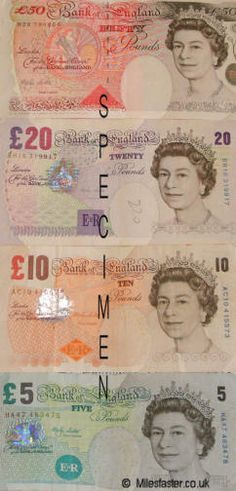 the various colours are not new to me, but that each denomination is a different size to the others really surprised us.