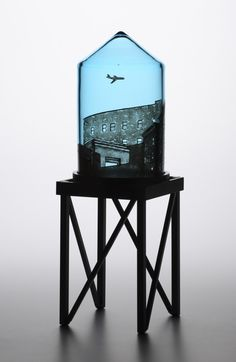 Delicate Glass Water Towers Feature Everyday Urban Scenes - My Modern Metropolis