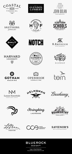 Bluerock Design Logos by Bluerock Design (my favorite is Elephant in the Kitchen)