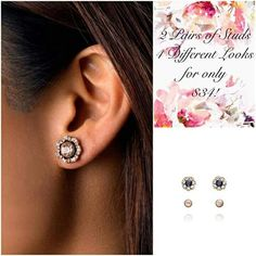 Our Parisian Belle Convertible Stud Earrings are the perfect gift! With 4 different ways to wear them, she's sure to love every one! Delicate and sweet just like her! Only $34! Contact me to order or shop online at:www.chloeandisabel.com/boutique/thecelticpearl   #MothersDay #gifts #4in1 #Convertible #MultipleLooks #multiplestyles #waystowear #jewelry #fashion #earrings #studs #halos #accessories #style #shopping #shop #trendy #trending #boutique #chloeandisabel #thecelticpearl