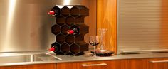 WineHive® Modular Wine Racks... pricey, but could be useful