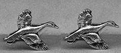 Duck Cufflinks in solid sterling silver Free by oldtrekkie on Etsy, $75.00