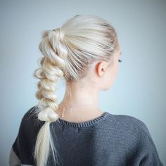 Obsessed with pull-through braids lately 💕