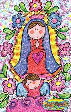Best Embroidery Machine, Mexico Culture, All Saints Day, Happy Wishes, Cat Colors, Arte Popular, Mexican Folk Art, Blessed Mother, Mother Mary