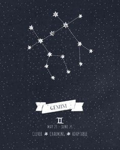 Gemini Constellation as a tattoo for my little Gemini babies