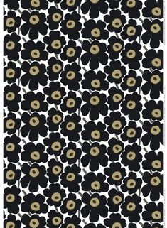 Revel In Color. The Pieni Unikko print of medium-sized flowers brightens up any room; The cotton Pieni Unikko print isn't limited to static creations, it also makes go Textured Wallpaper, Fabric Wallpaper, Bold Prints, Large Prints, Design Your Own Dress, Marimekko Fabric, Types Of Curtains, Rod Pocket Curtains, Book Projects