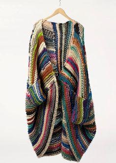yarn scrap shrug - w