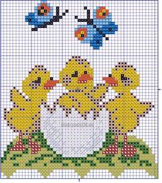 Бесплатная схема вышивания пасхального сюжета. Cross Stitch For Kids, Mini Cross Stitch, Cross Stitch Cards, Beaded Cross Stitch, Cross Stitch Animals, Cross Stitching, Cross Stitch Embroidery, Crochet Stitches Patterns, Cross Stitch Patterns